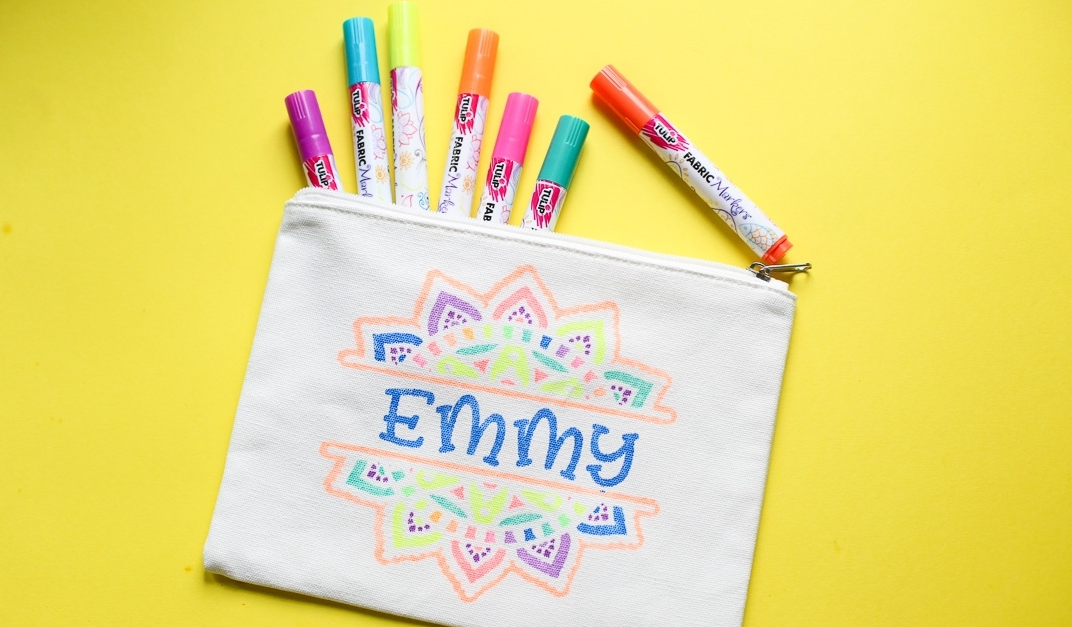 How To Create Fabric Marker Designs with Stencils