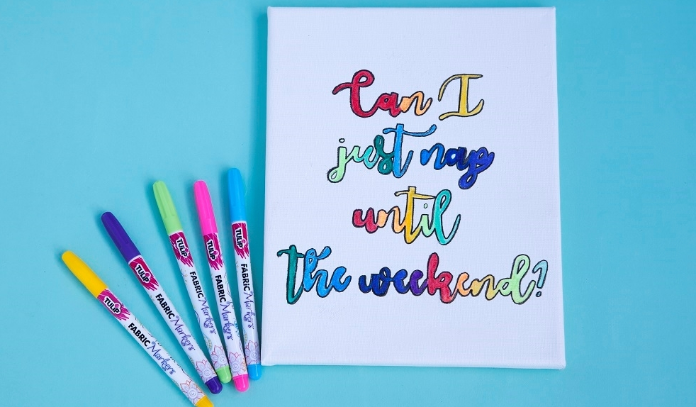 How to Create Canvas Quote Art with Fabric Markers