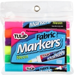 Picture of Brush Tip Neon Fabric Markers 6 Pack
