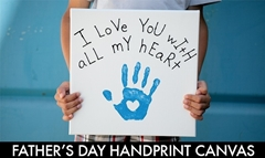 Picture of Father's Day Handprint Canvas
