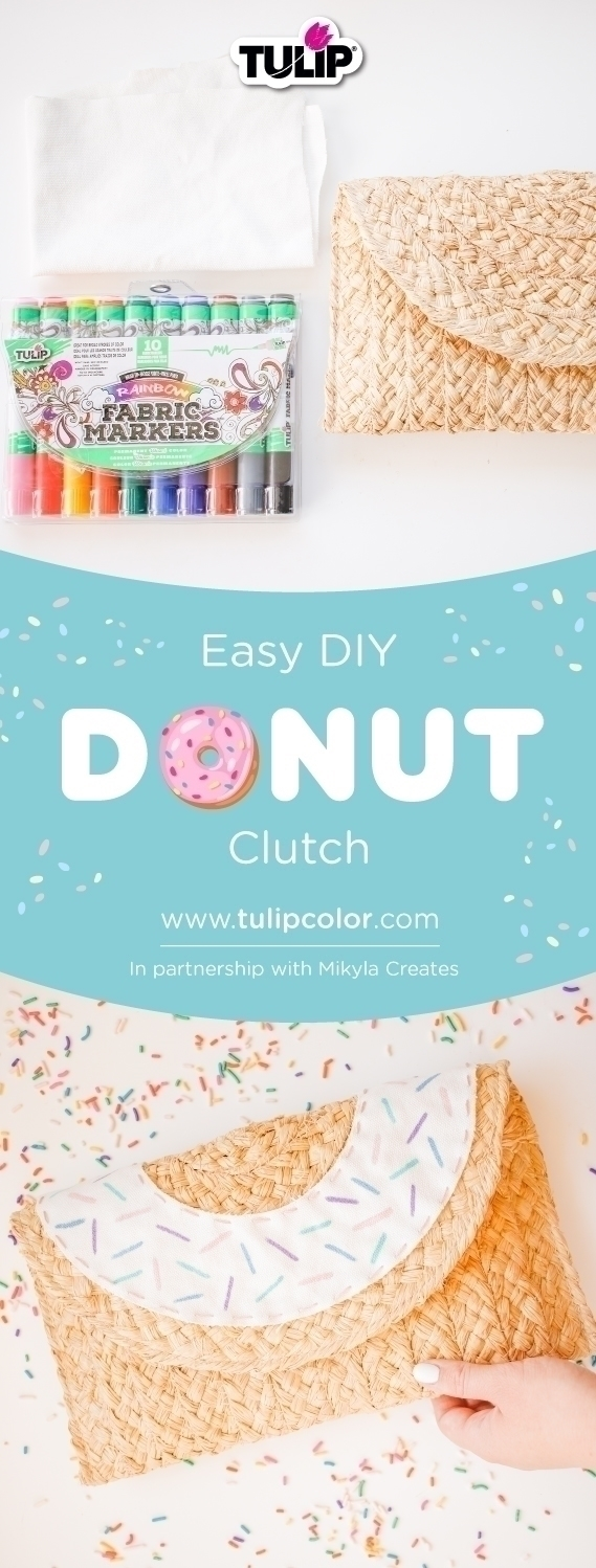 Easy DIY Donut Clutch Purse