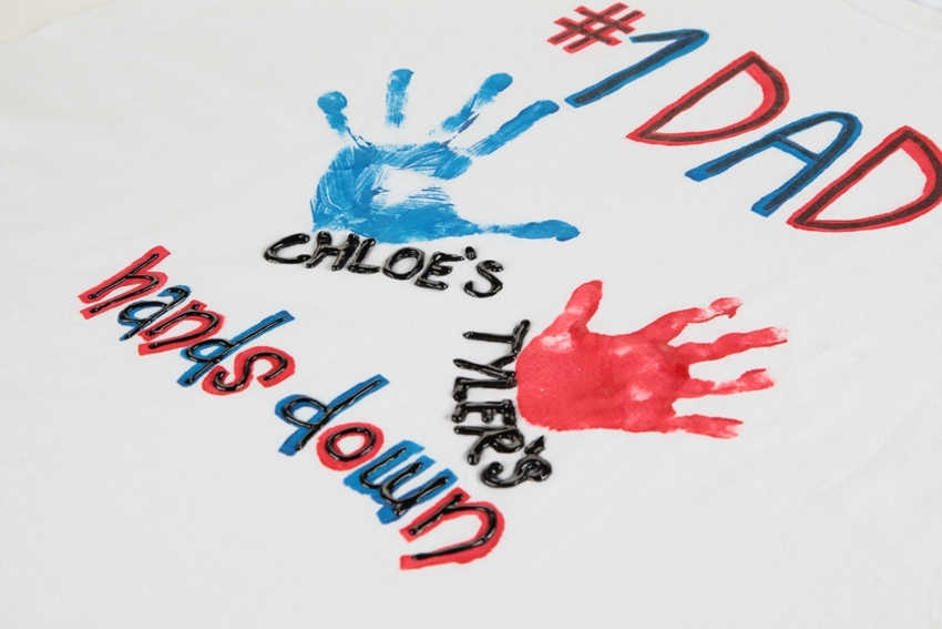 Painted handprints Father's Day gift