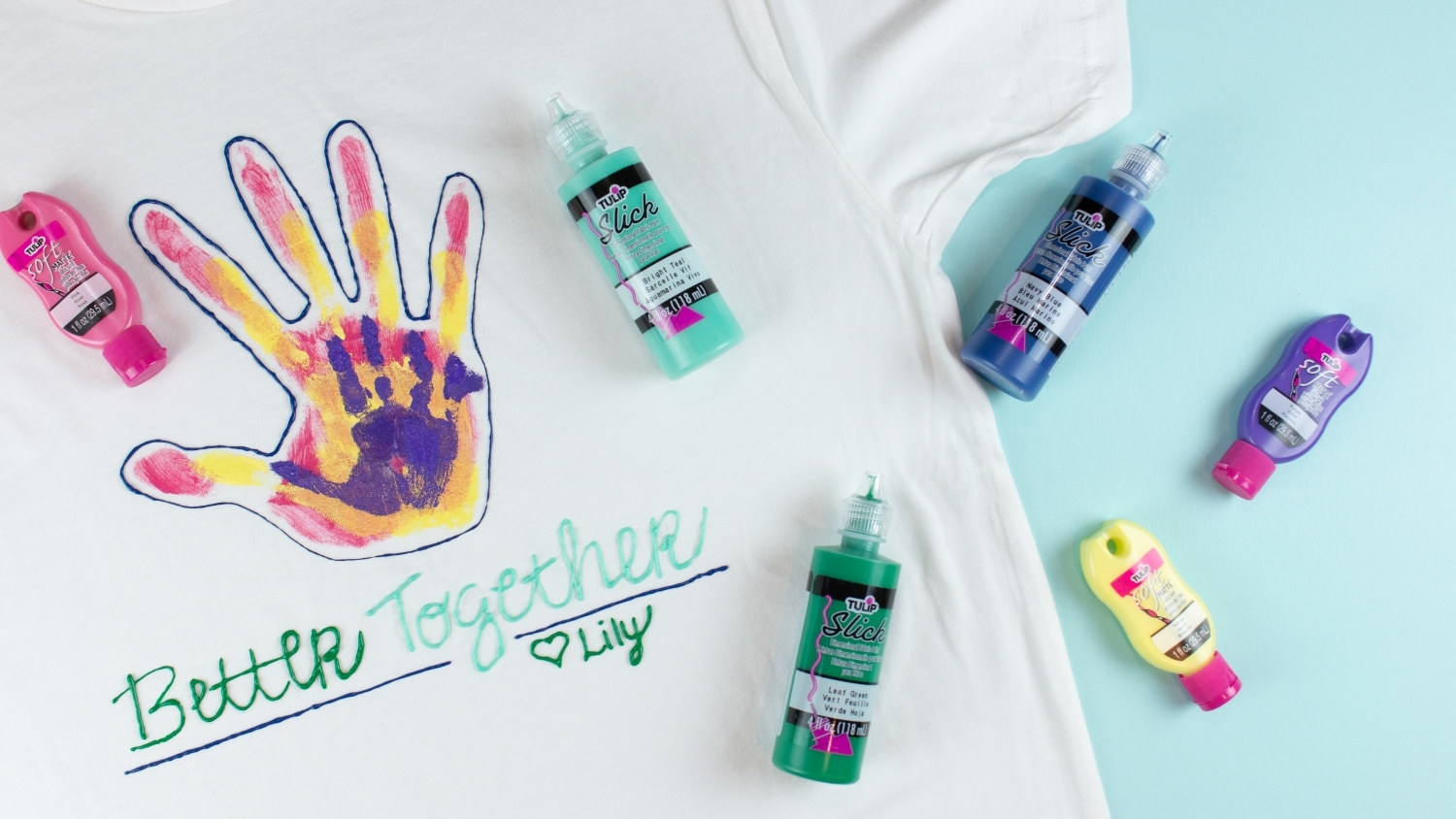 Painted handprint Father's Day T-shirt