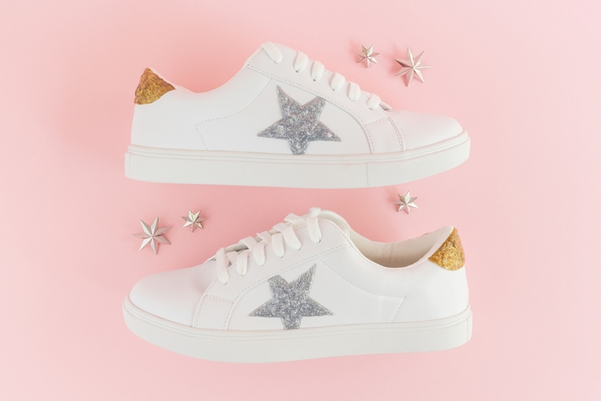 Picture of Glitter Paint Custom Shoes