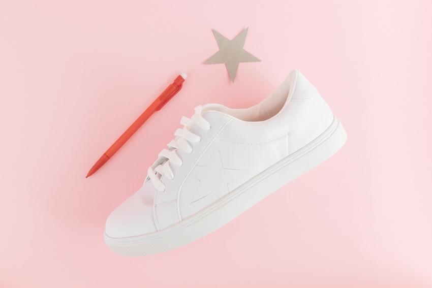 Trace star shape onto shoes
