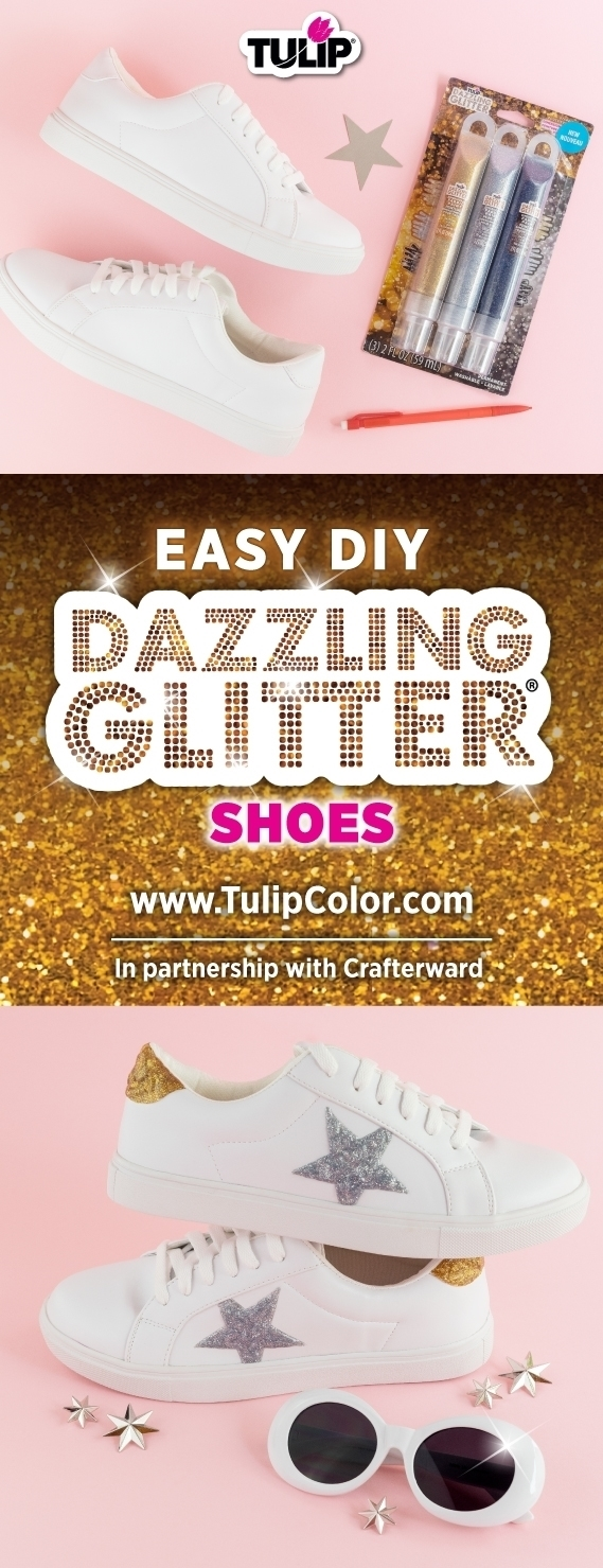 Glitter Paint Custom Shoes