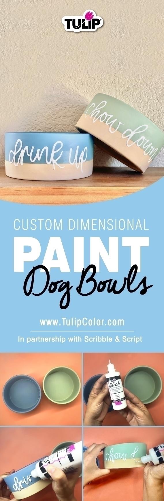 Custom Dog Bowl Painting Tutorial
