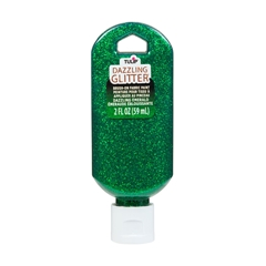 Picture of Dazzling Glitter Brush-On Fabric Paint Dazzling Emerald 2 oz.