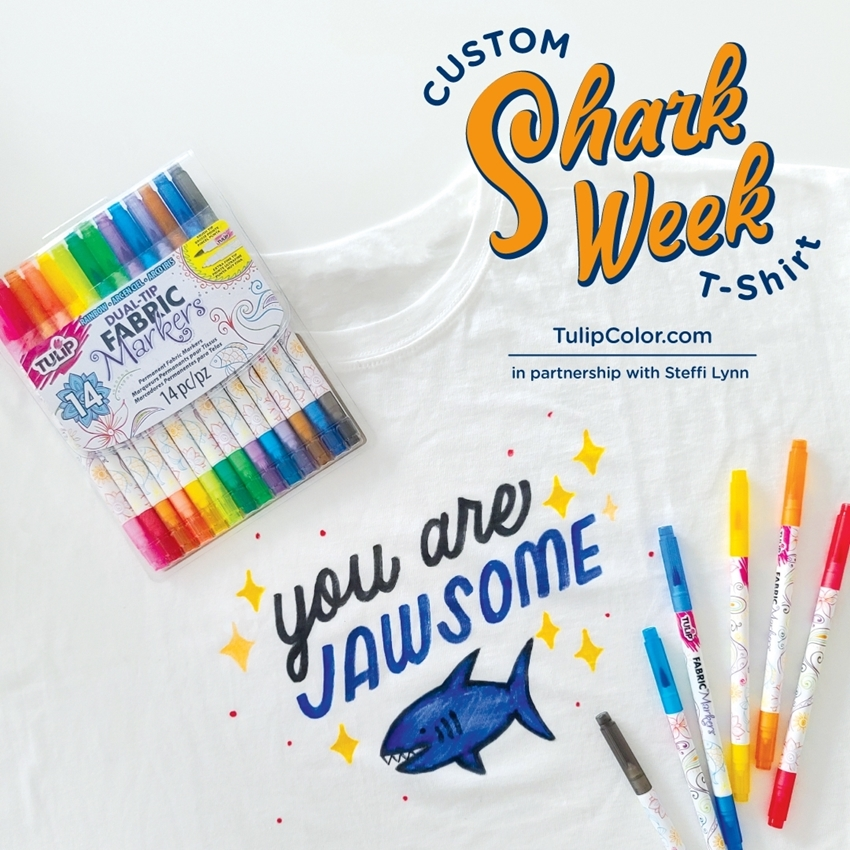 Picture of Easy DIY Shark Week T-shirt