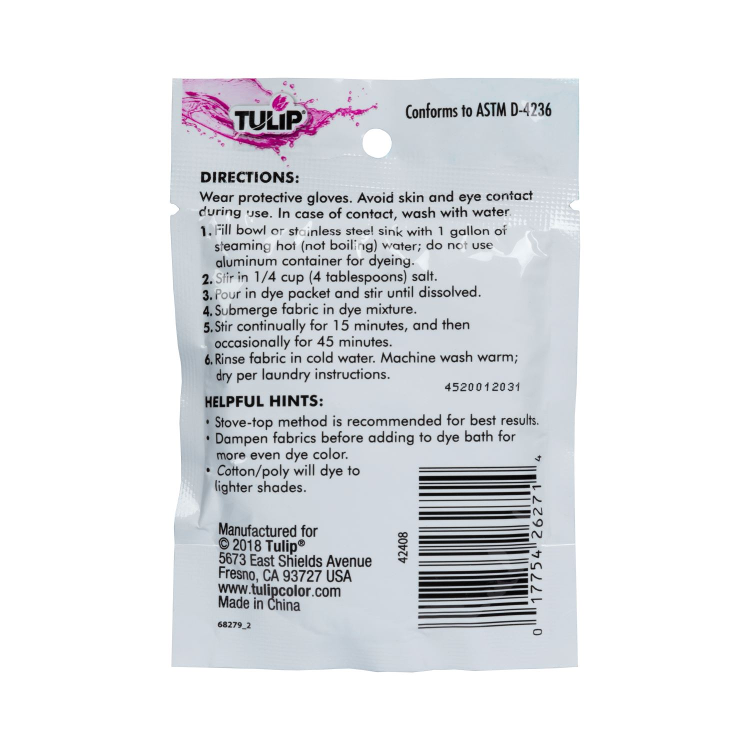 Picture of Tulip® Fabric Dye 2-N-1 Formula Turquoise