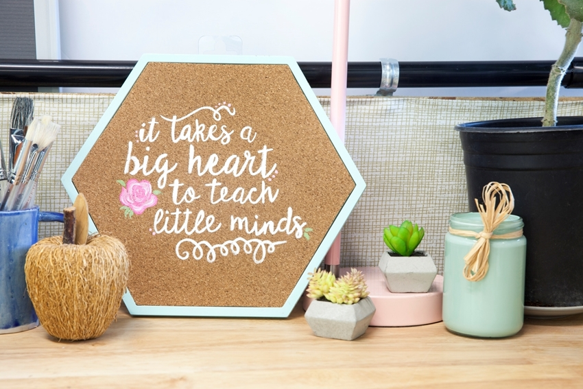 Motivational Quote Art Corkboard