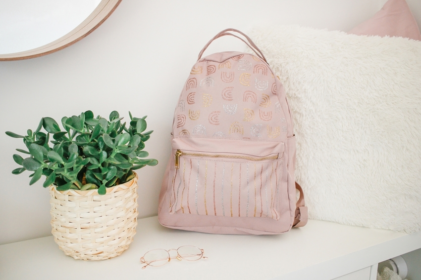Picture of How to Decorate a Backpack with Tulip Dazzling Glitter Paint