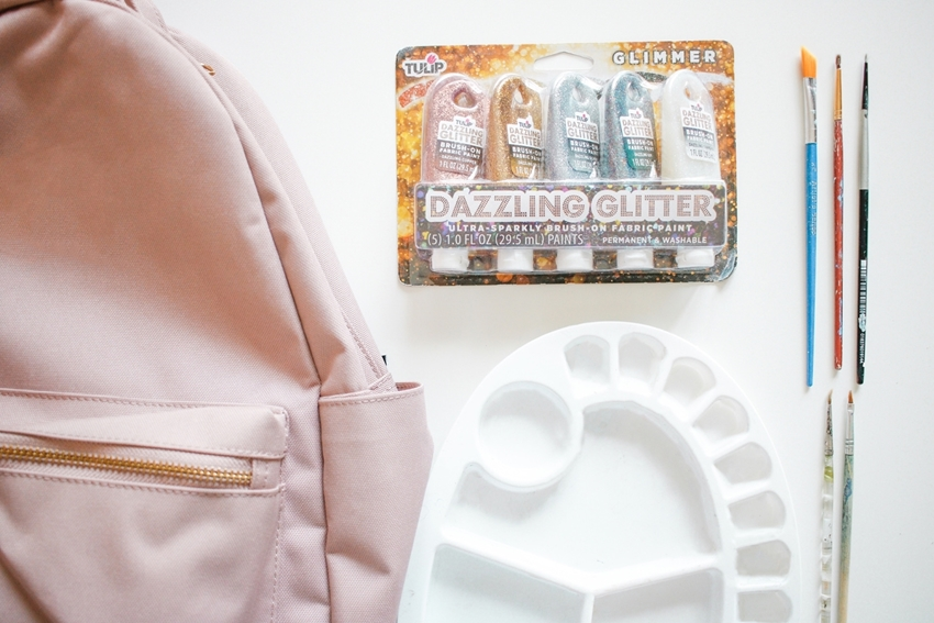 Tulip Dazzling Glitter Paints for decorating a backpack