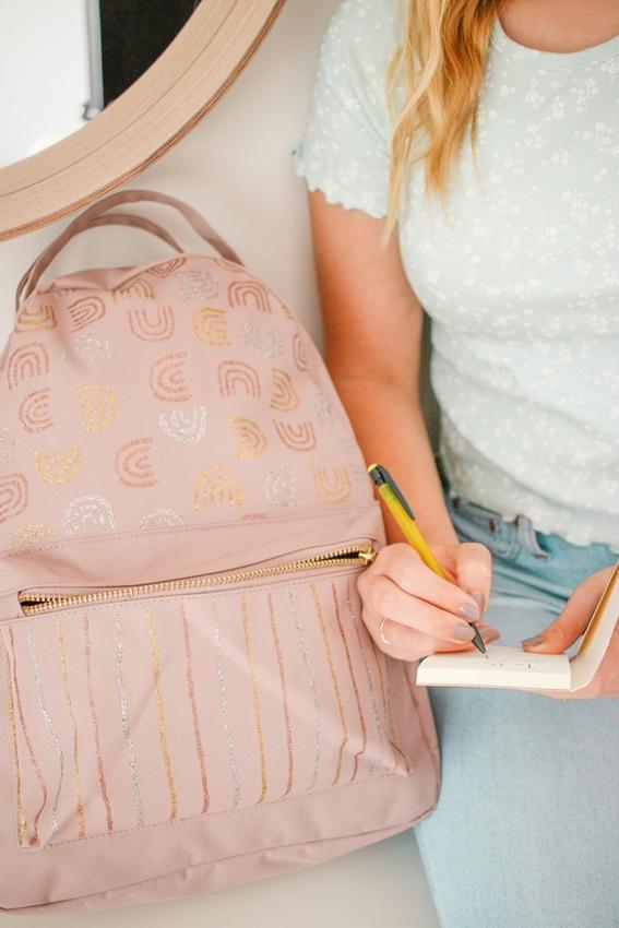 DIY Glitter Paint Backpack