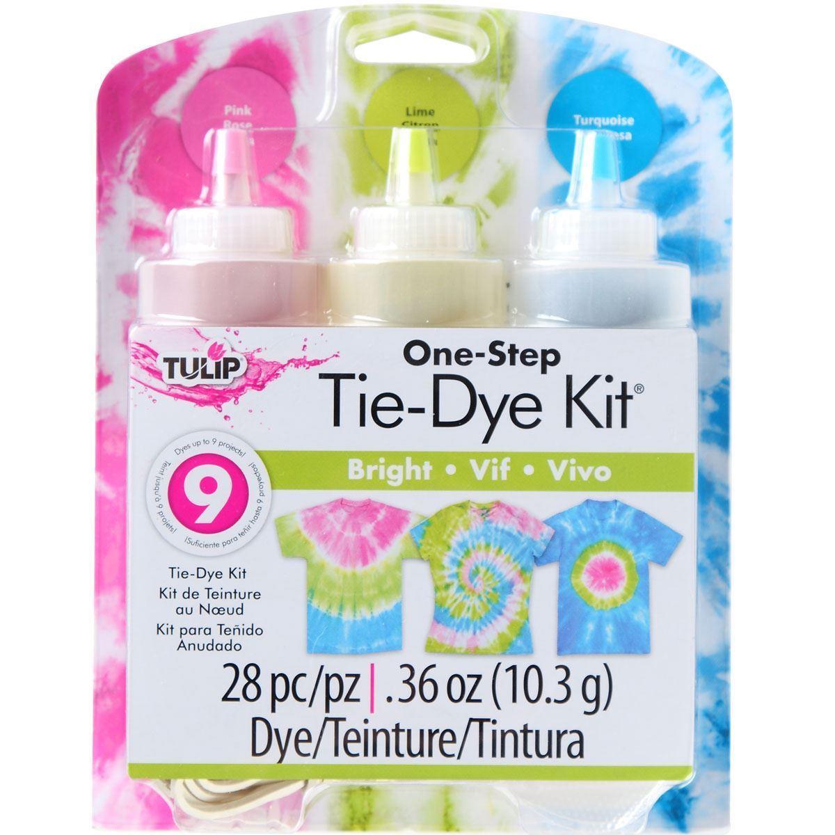 Bright 3-Color Tie-Dye Kit
