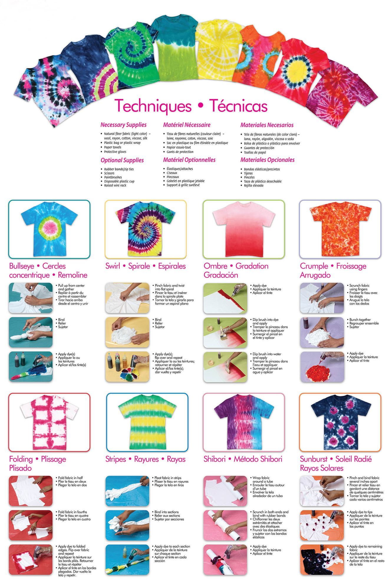 Paradise Punch 3-Color Tie-Dye Instructions