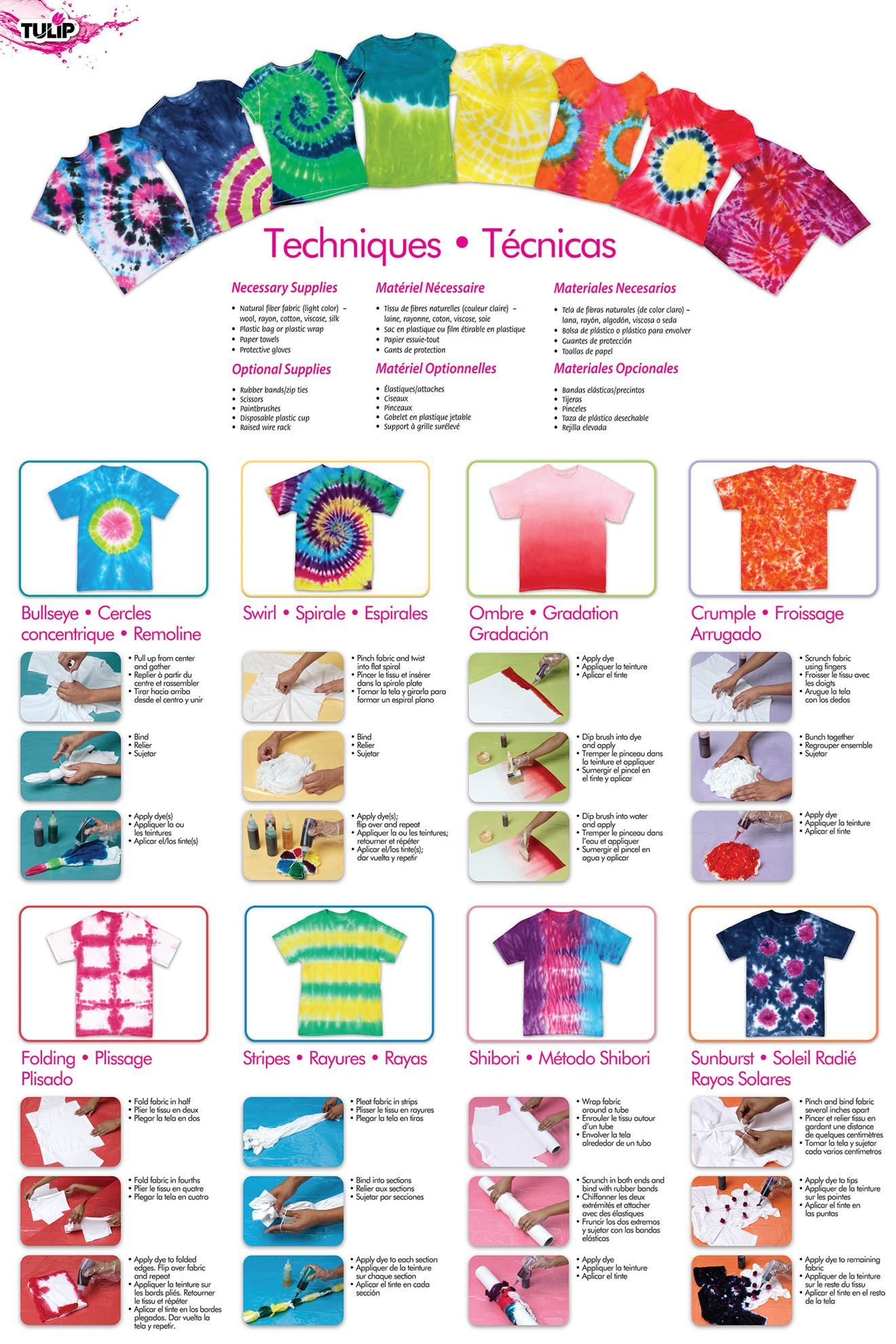 Carousel 5-Color Tie-Dye Instructions
