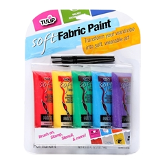 Picture of Brush-On Fabric Paint Squeezable Tube 5 Pack