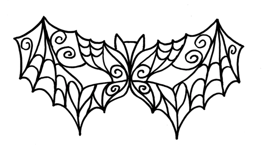 Bat Mask Pattern