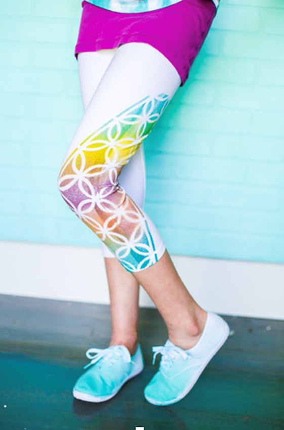Personalized leggings with ColorShot Instant Fabric Color