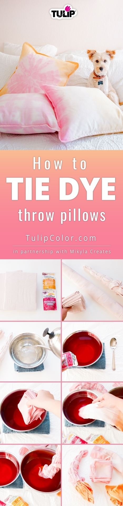 How To Tie Dye Throw Pillows