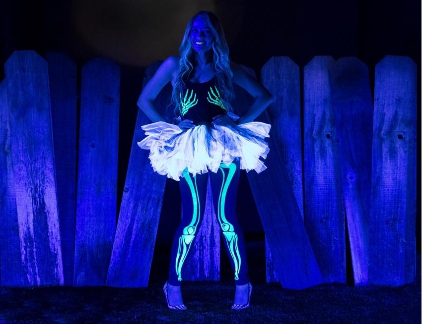 Glow-in-the-Dark Skeleton Costume