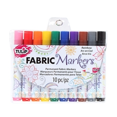 Picture of Brush Tip Rainbow Fabric Markers 10 Pack