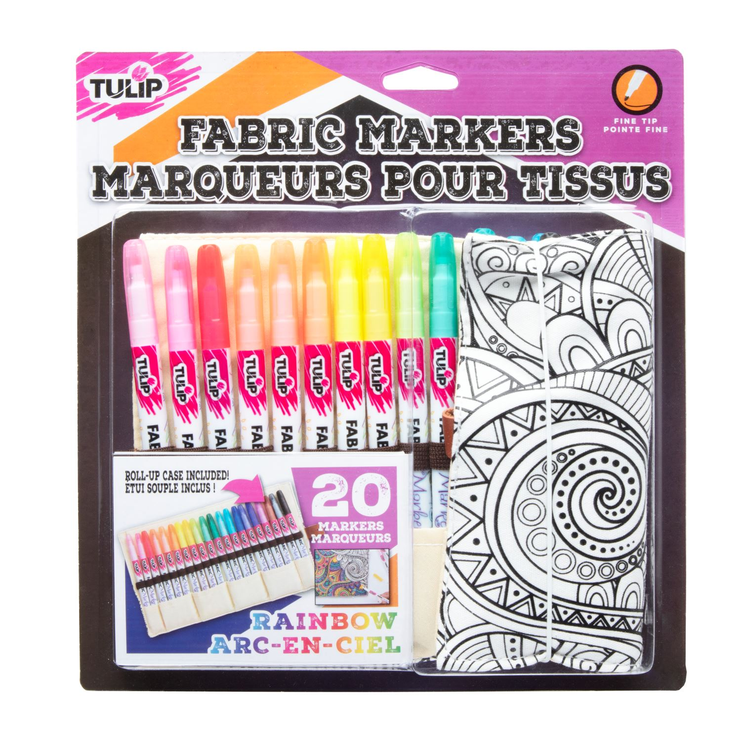 Picture of Fabric Markers Roll Up 20 Pc. Kit