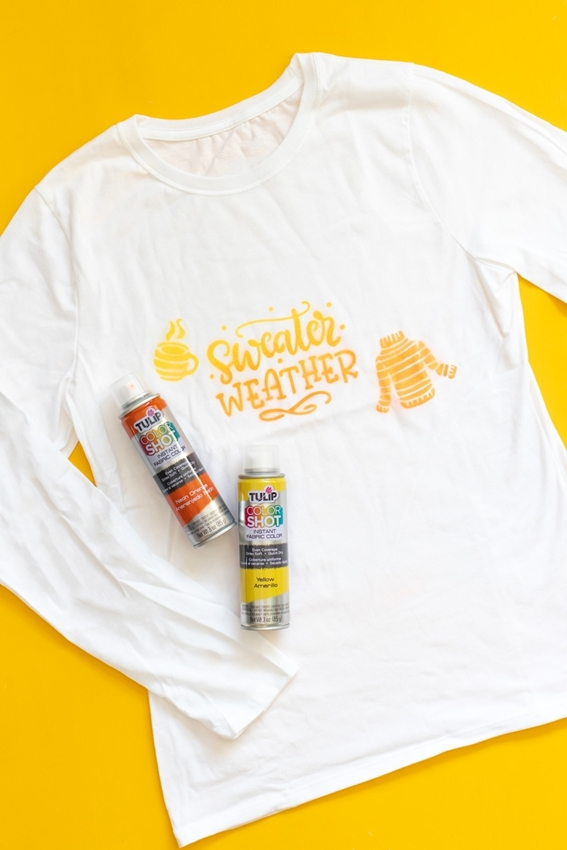 How to paint shirts with fabric spray paint