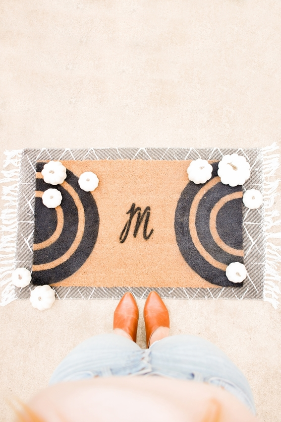 Picture of DIY Monogram Doormat with Tulip ColorShot