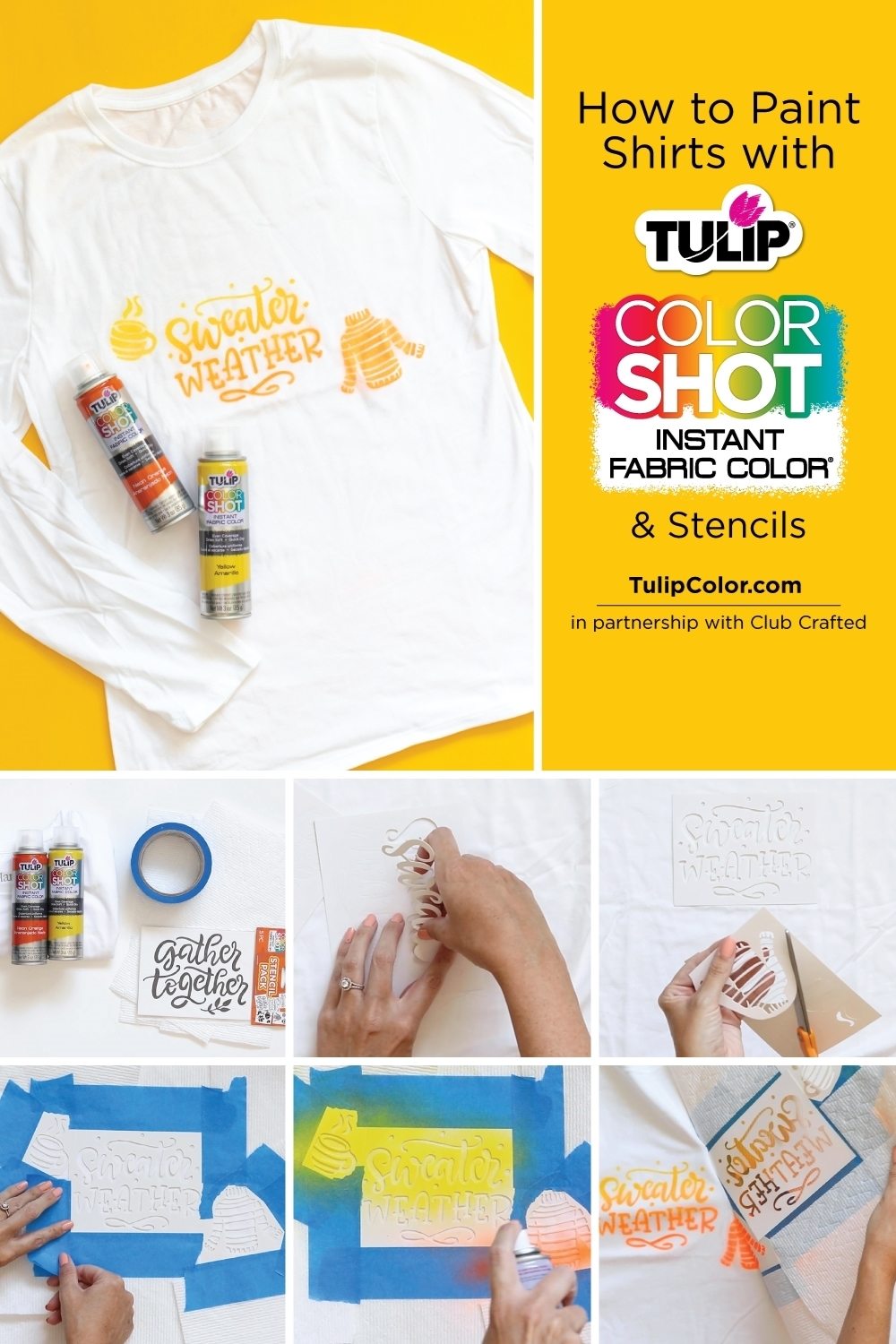How to Paint Shirts with Fabric Spray Paint and Stencils