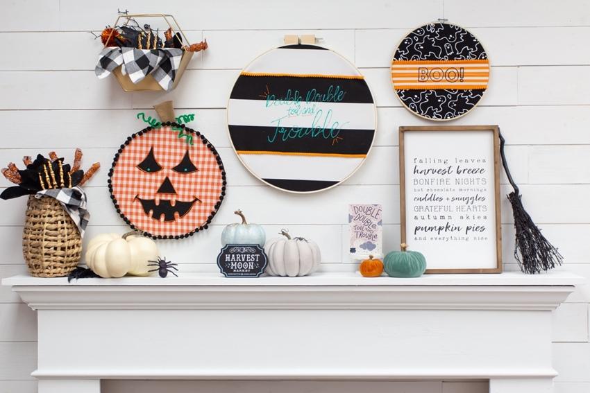 Halloween Embroidery Hoop Wreaths
