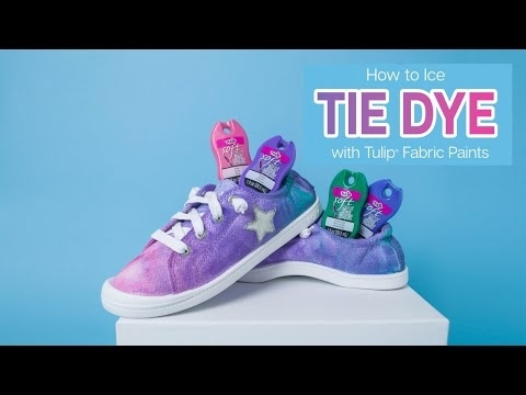 How to Ice Tie Dye with Fabric Paints