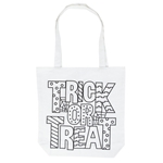 """Picture of ColorMe White Shoulder Tote """"Trick or Treat"""""""