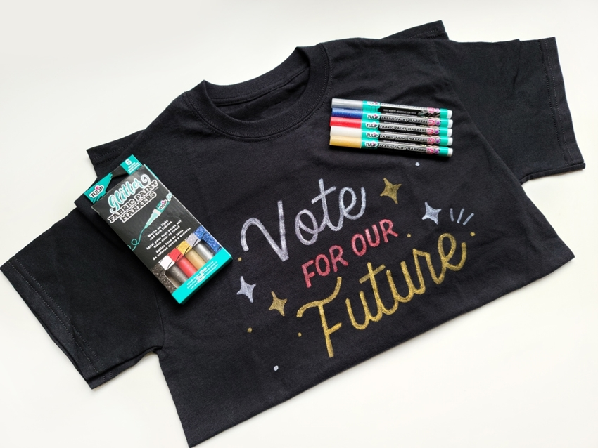 Picture of Custom Vote T-shirt with Glitter Markers