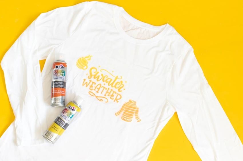 Sweater Weather Fabric Spray Paint Shirt