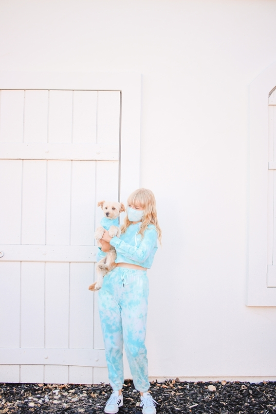 DIY Tie-Dye Sweatsuit and Mask