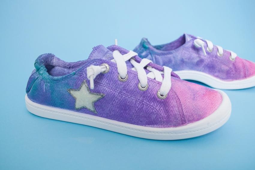DIY Watercolor Sneakers
