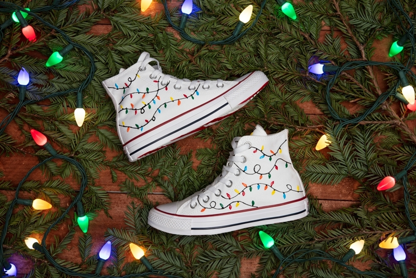 DIY Christmas Lights Shoes