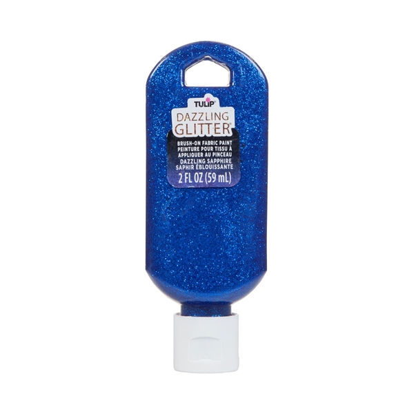 Picture of Dazzling Glitter Brush-On Fabric Paint Dazzling Sapphire 2 oz.