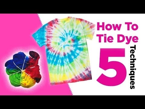 How to Tie-Dye at Home Like a Pro - Try These 5 Easy Techniques Video