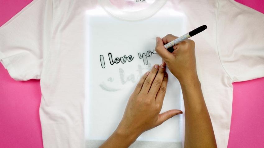 Trace design onto shirt