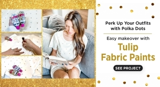 Polka Dot Clothing DIY with Fabric Paint