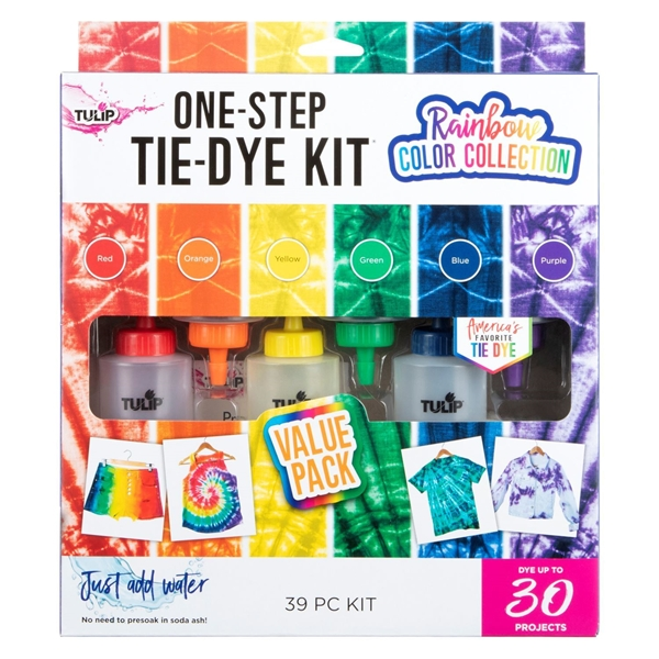 One-Step Tie-Dye Kit Rainbow Color Collection