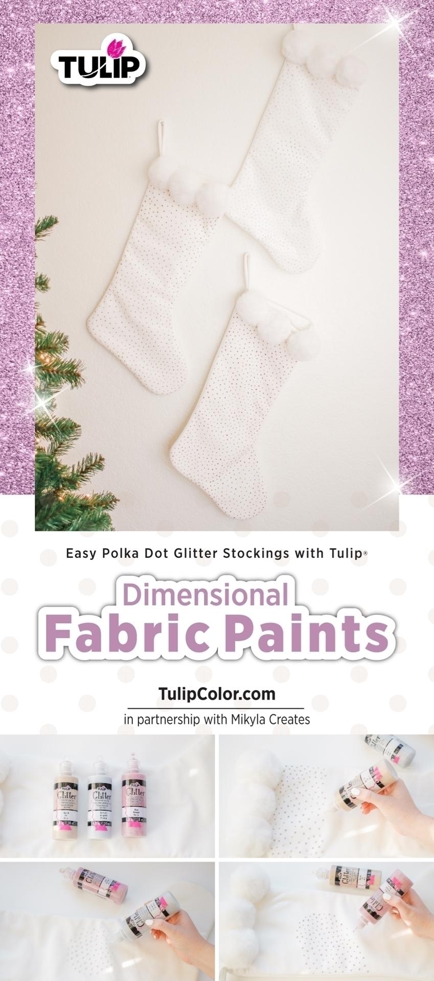 Glitter Polka Dot Stockings