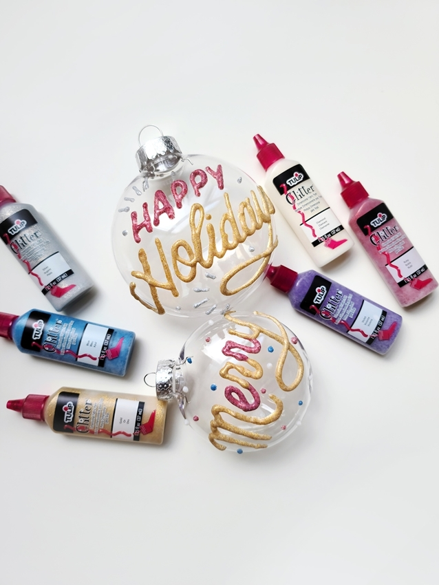Custom Dimensional Paint Holiday Ornaments