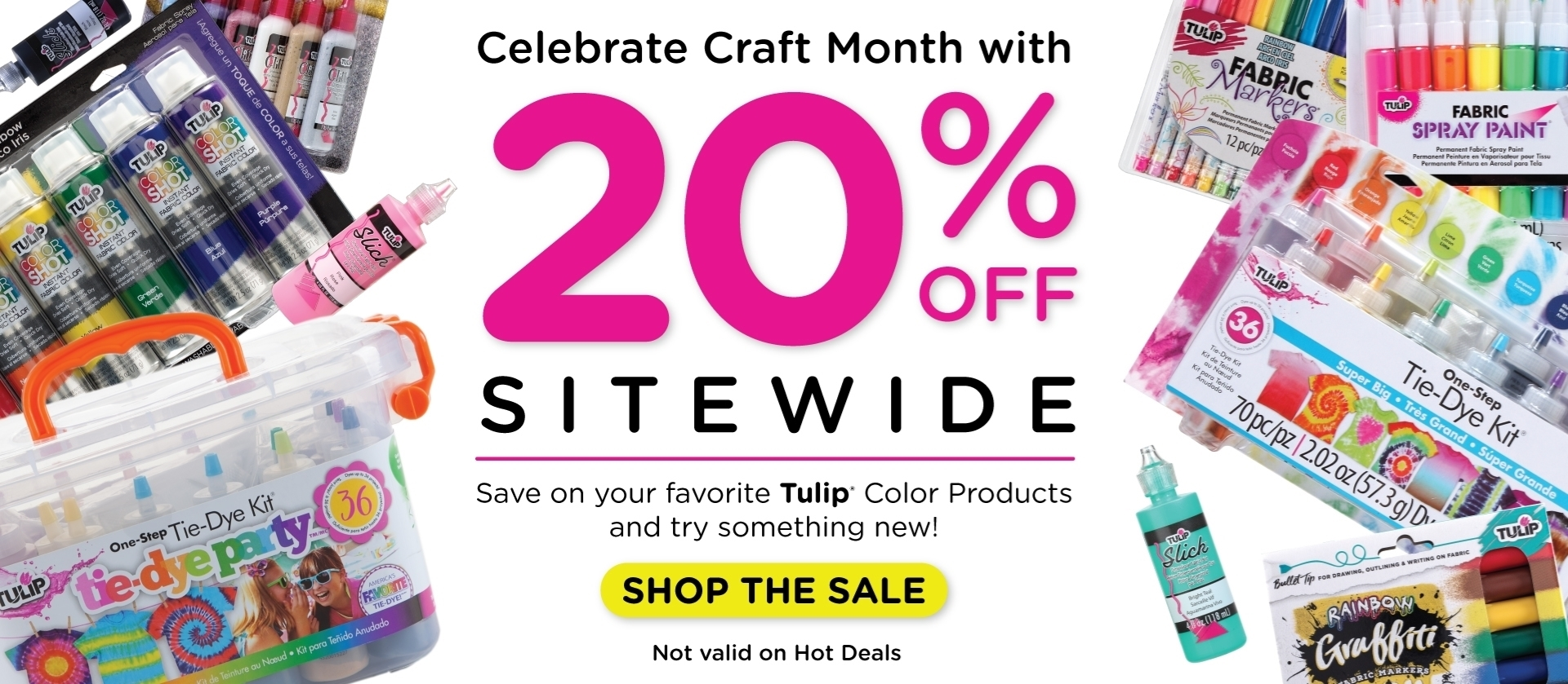 20% Off Sitewide Craft Month Promotion March 2021