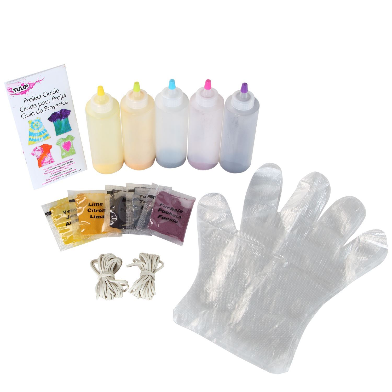 Ultimate 5-Color Tie-Dye Kit Content