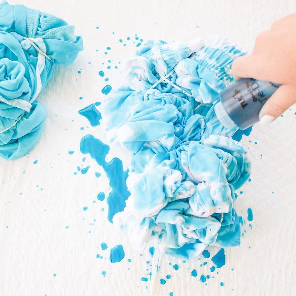 Tie dye blue project