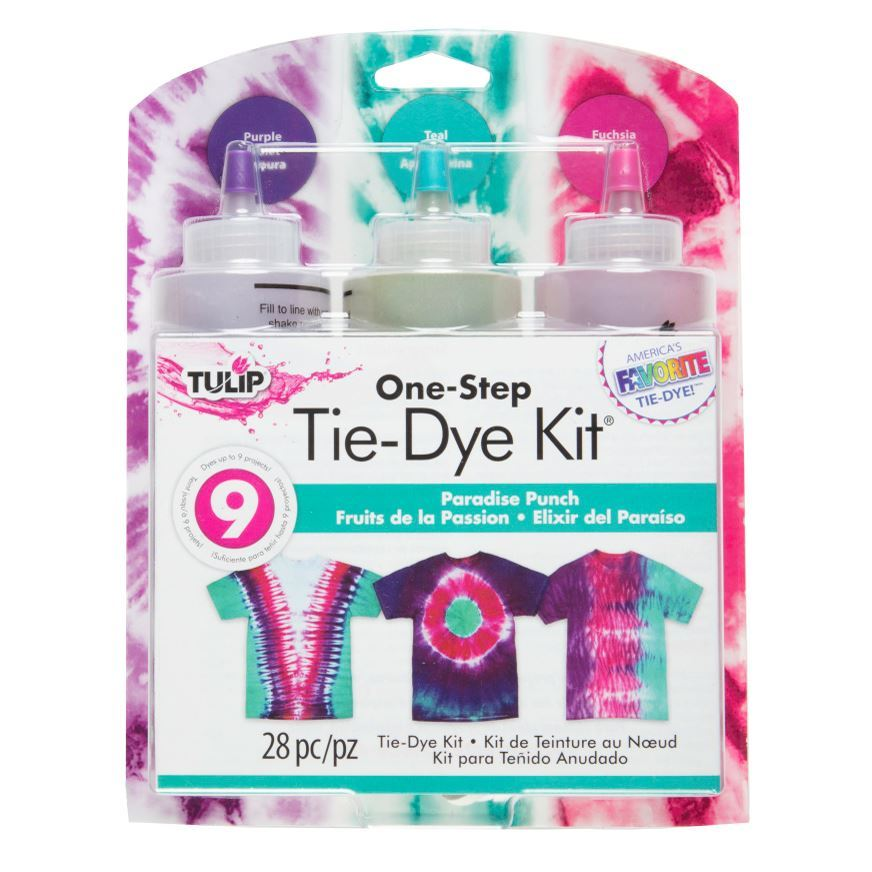 Psychedelic One Step Tie Dye Kit Tulip NEW red yellow blue craft activity party